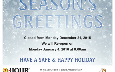 Seasons Greetings and Holiday Hours